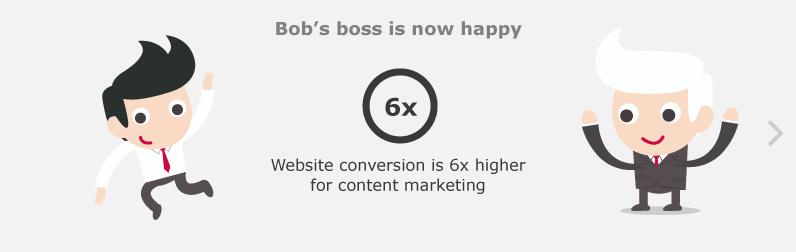 Bob's boss is now happy