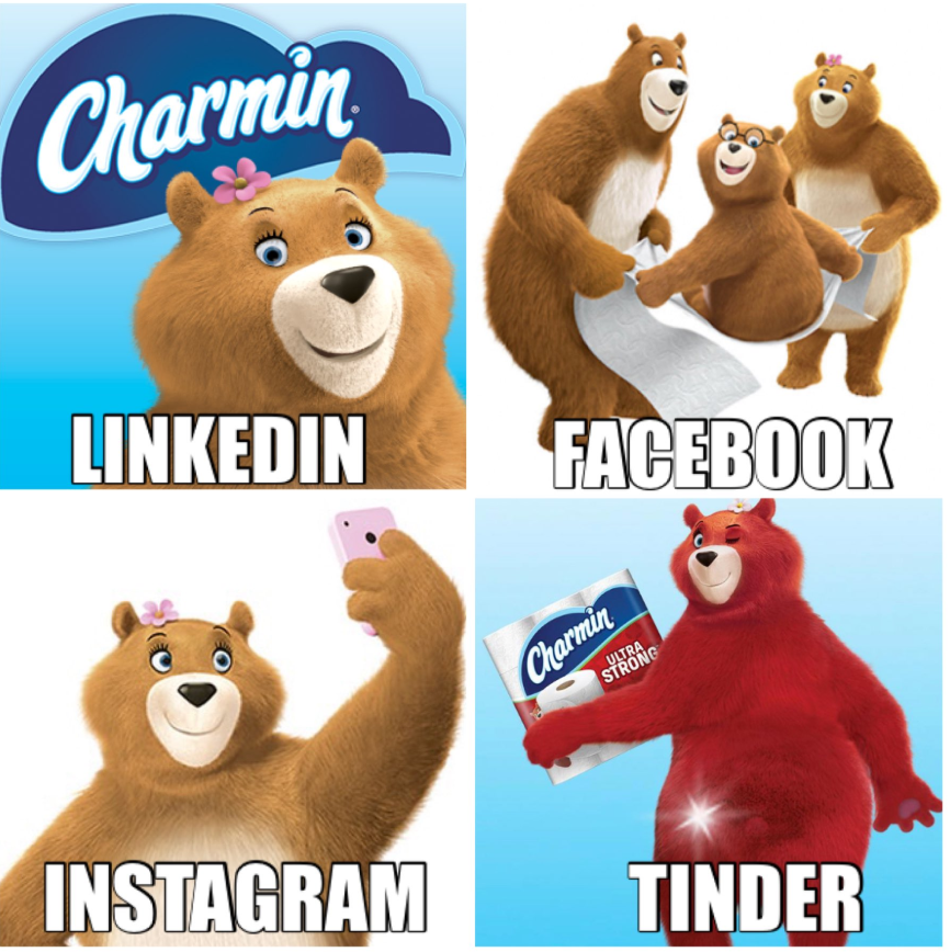 humorous social post by brands - Charmin